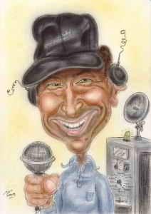 Amateurfunker ist zwar kein Beruf, kann aber interessant sein - Karikatur