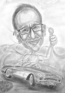 Cabriofahrer - Karikaturen von Autofahrern