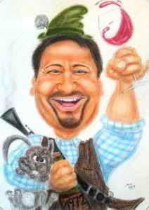 Jägermeisert oder Meisterjäger - Karikatur zum Beruf