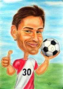 Fussballer wird 30 - Karikatur zeichnen lassen