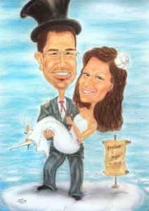 Hochzeitskarikaturen als Geschenkidee