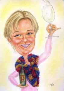 Auf den Geburtstag ein Glas Wein - Karikaturen als Geschenkidee
