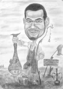 Angler-Karikatur