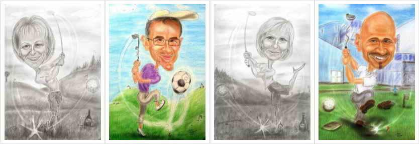 Golf - Golfsport - Golfspieler - Karikaturen zeichnen lassen - Geschenkideen - Geburtstagswünsche