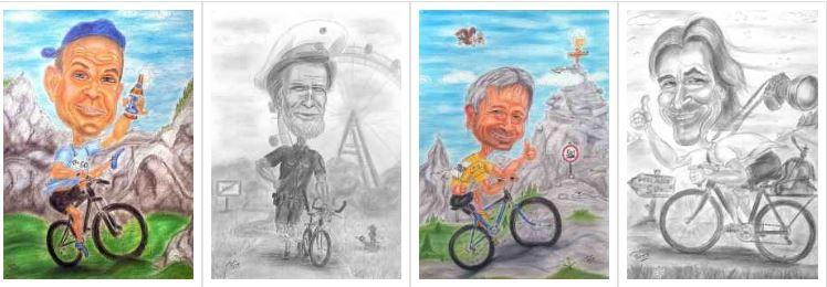 Radfahrer und -innen auf´s Radl mit euch und raus ins Freie
