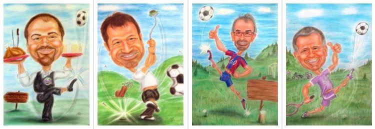 Fußball-Fans in Karikaturen verewigt - Geschenkidee zum Geburtstag und anderen Festivitäten