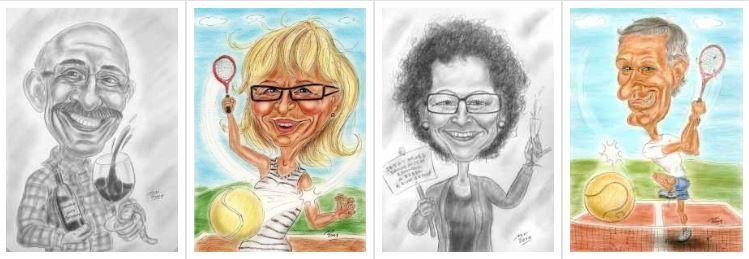 Pension, Rente, Ruhestand, Karikaturen von Aussteigern aus dem Arbeitsleben