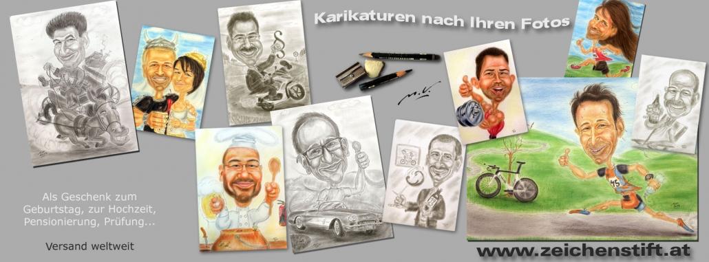 Karikaturen / Cartoons - Beispielbilder von Zeichenstift Martin Veith, Wien